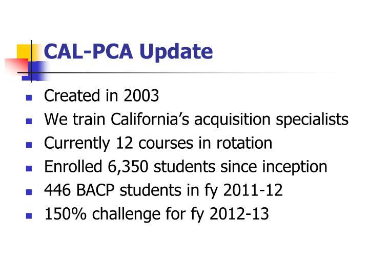 CAL-PCA Update