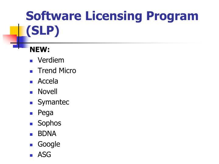 Software Licensing Program (SLP)