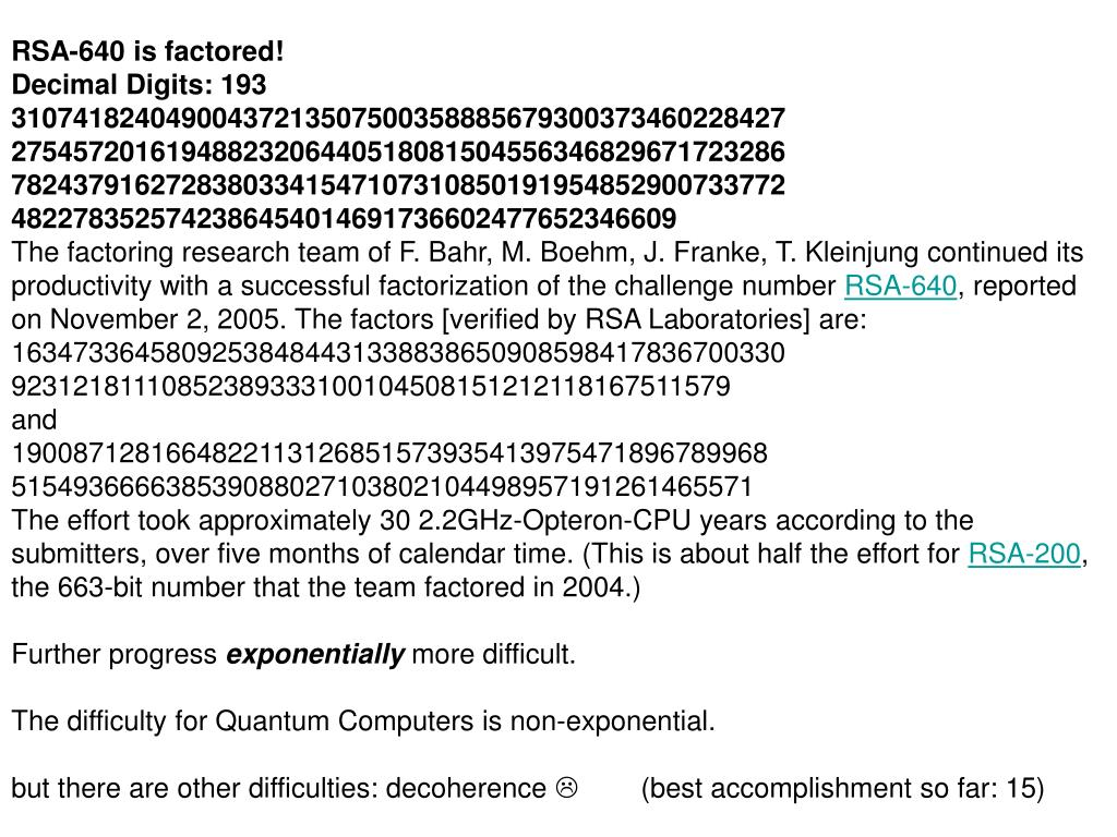 RSA-640 is factored!
