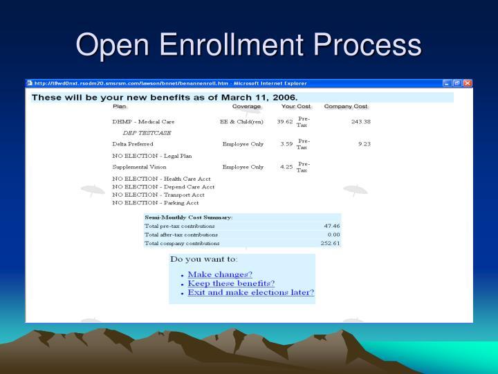 Open Enrollment Process