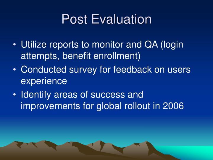 Post Evaluation