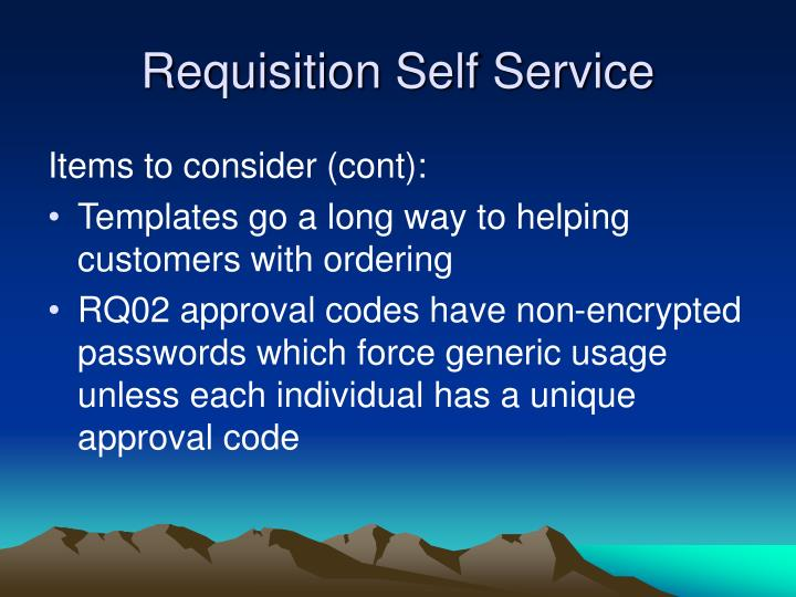 Requisition Self Service