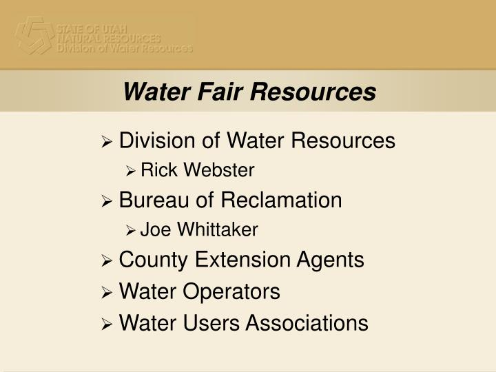 Water Fair Resources