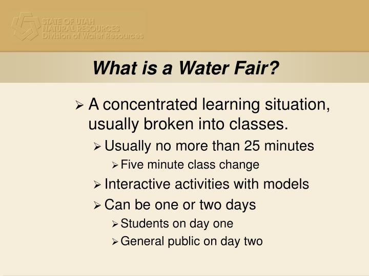 What is a Water Fair?