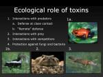 ecological role of toxins