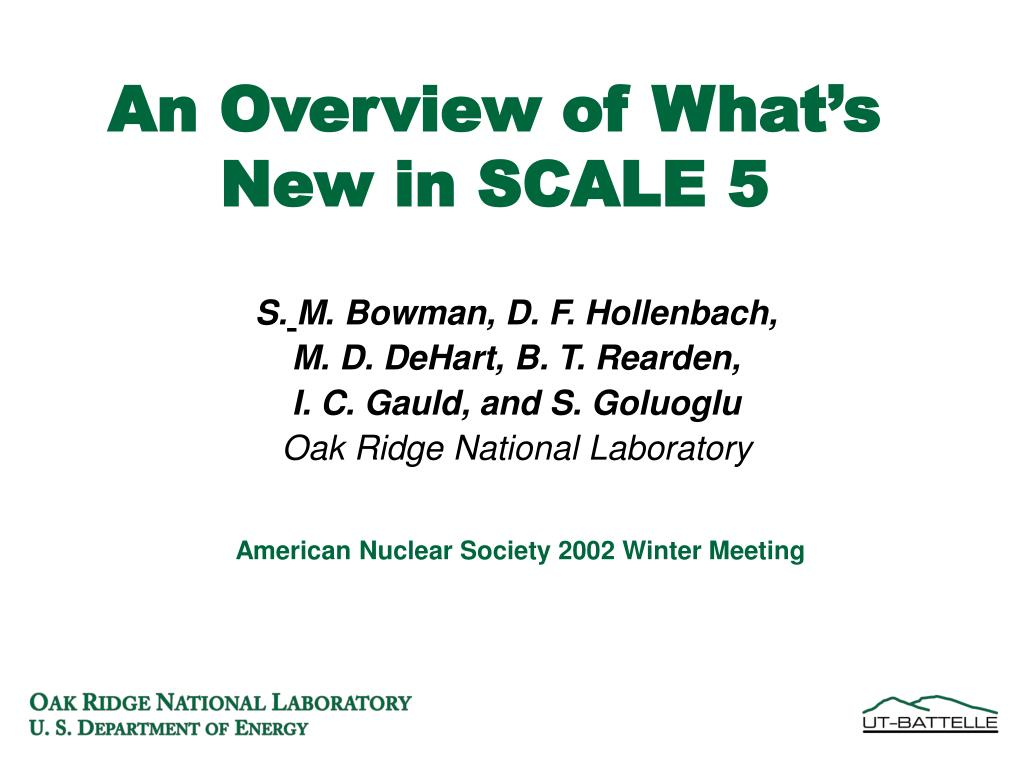 an overview of what s new in scale 5 l.