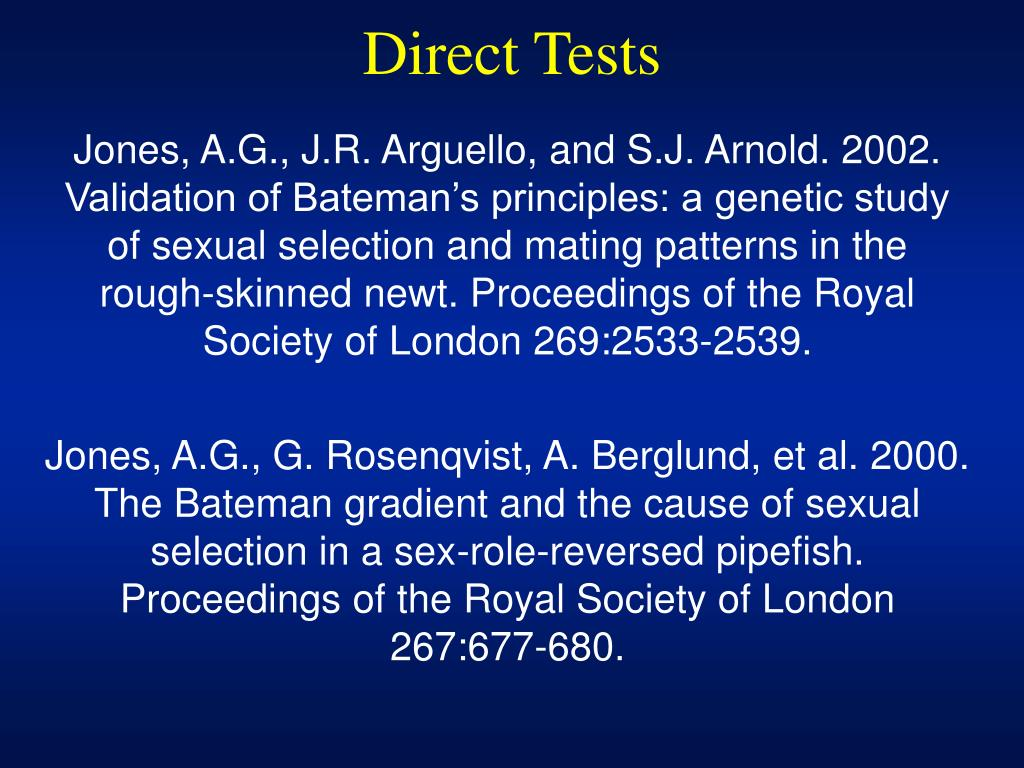 Direct Tests