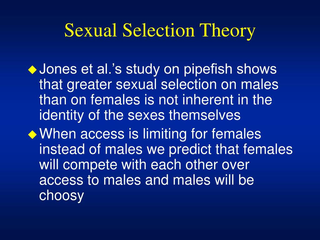Sexual Selection Theory