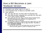 how a bill becomes a law textbook version31