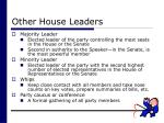 other house leaders