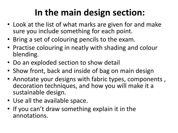 In the main design section: