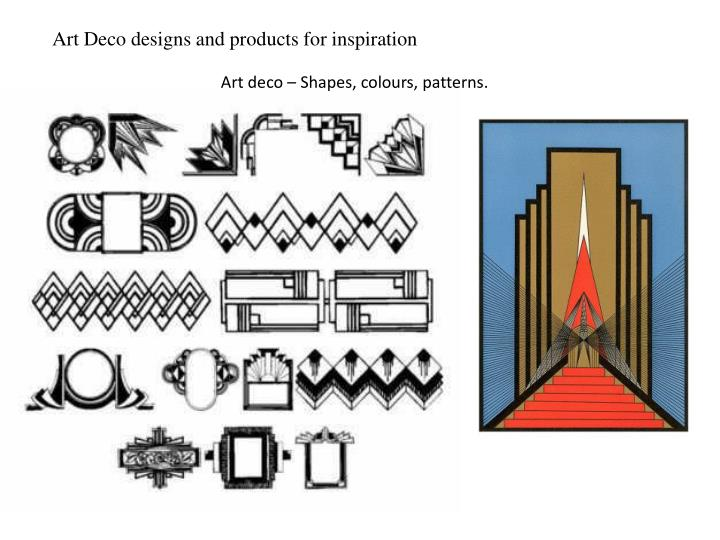 Art Deco designs and products for inspiration