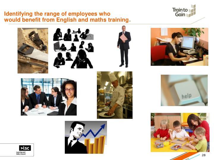 Identifying the range of employees who
