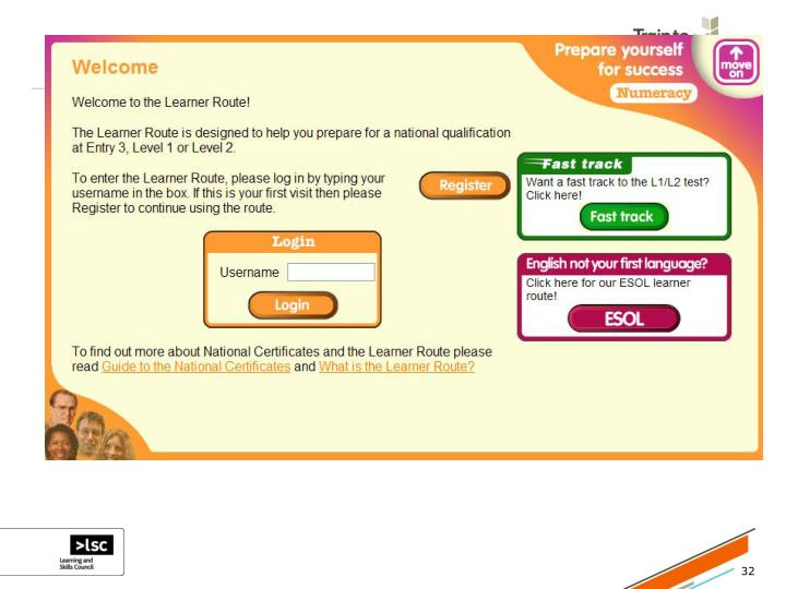 Move On Learner Route – numeracy