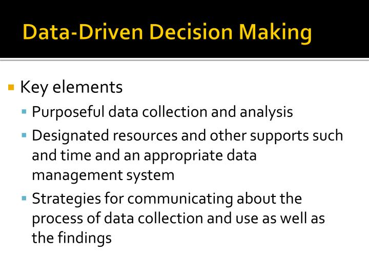 business strategy and the importance of data driven decision making essay Global survey on data-driven decision-making in businesses share this facebook twitter linkedin google+ email 14 survey-based recommendations on how to improve data-driven decision-making today's advanced analysis methods and the increasing availability of data are.