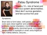 patau syndrome