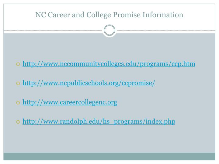 NC Career and College Promise Information