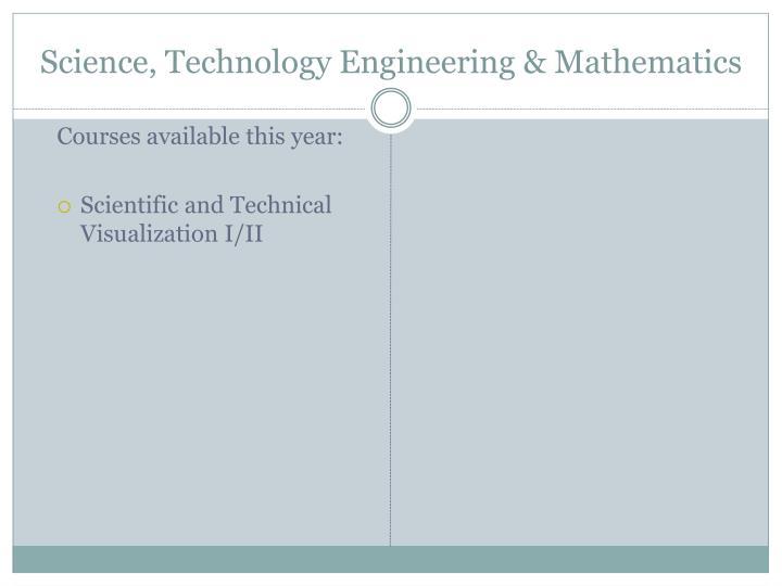 Science, Technology Engineering & Mathematics