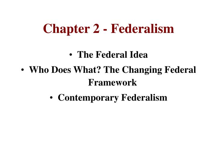 Chapter 2 federalism