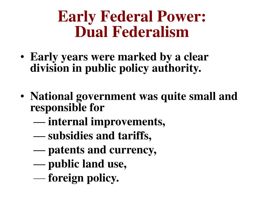 Early Federal Power: