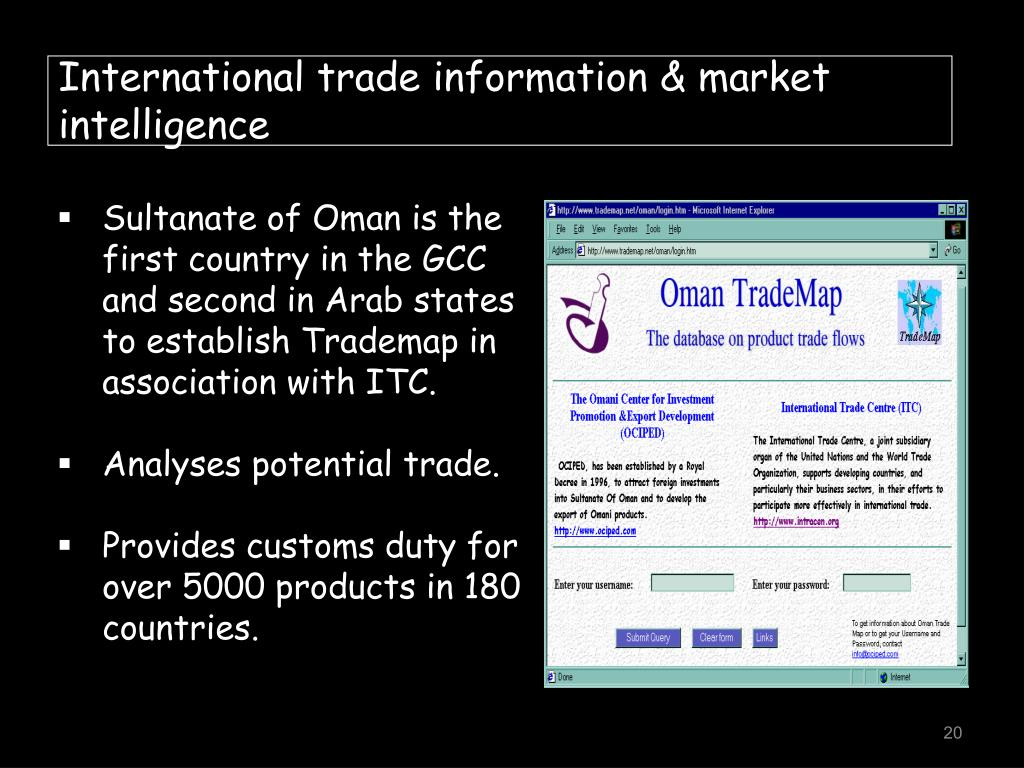 International trade information & market intelligence