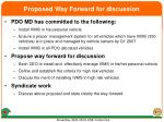 proposed way forward for discussion