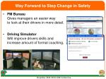way forward to step change in safety