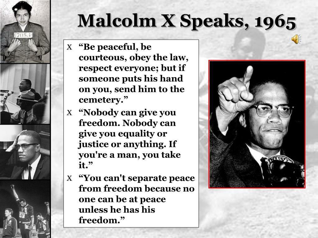 Malcolm X Speaks, 1965