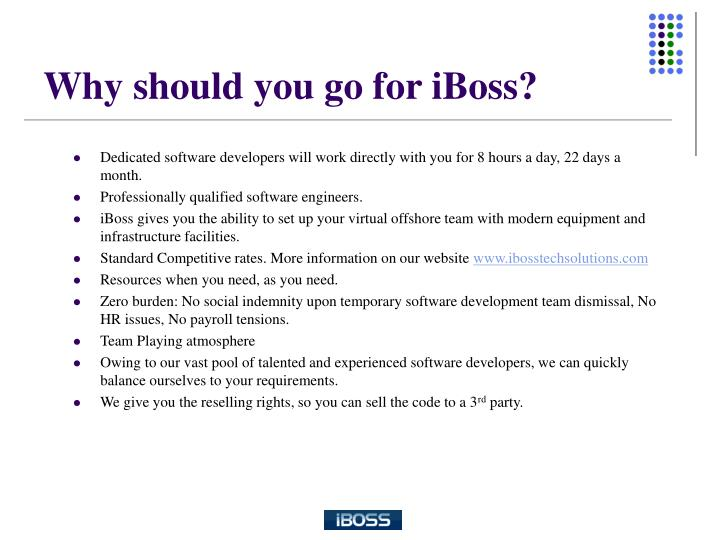 Why should you go for iboss