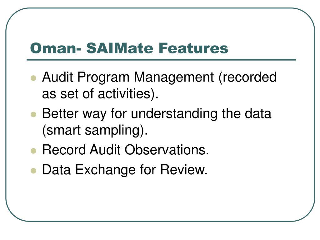 Oman- SAIMate Features