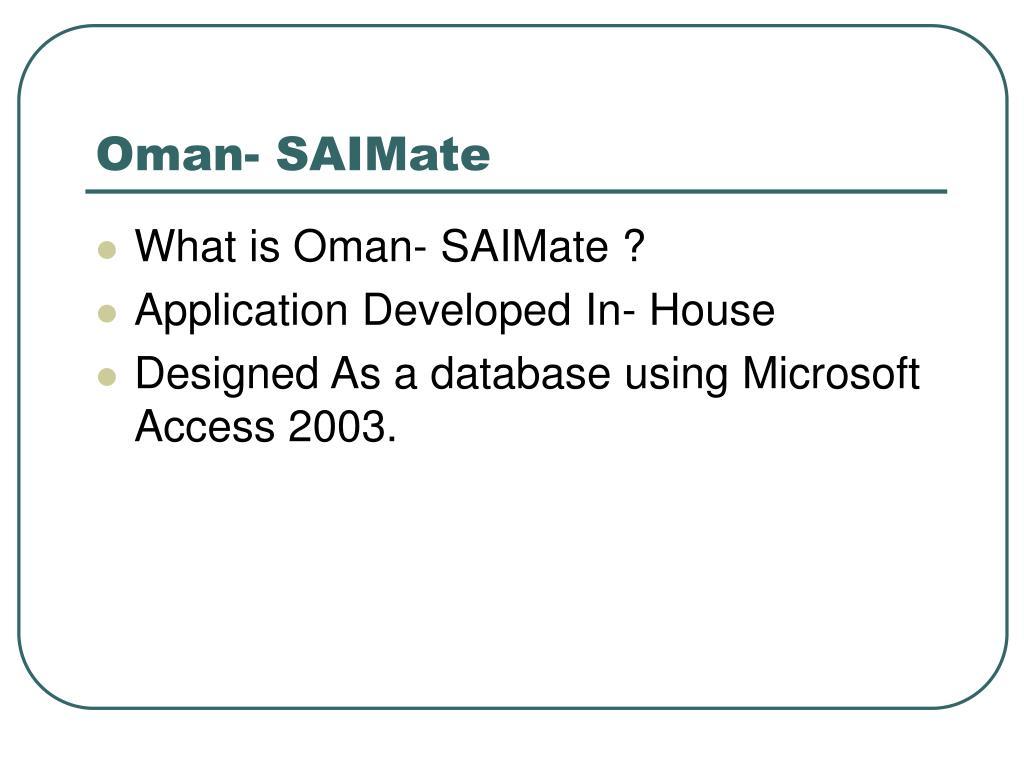Oman- SAIMate