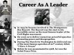 career as a leader