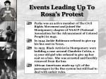 events leading up to rosa s protest