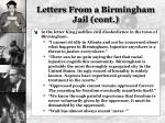 letters from a birmingham jail cont