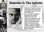 malcolm x the activist