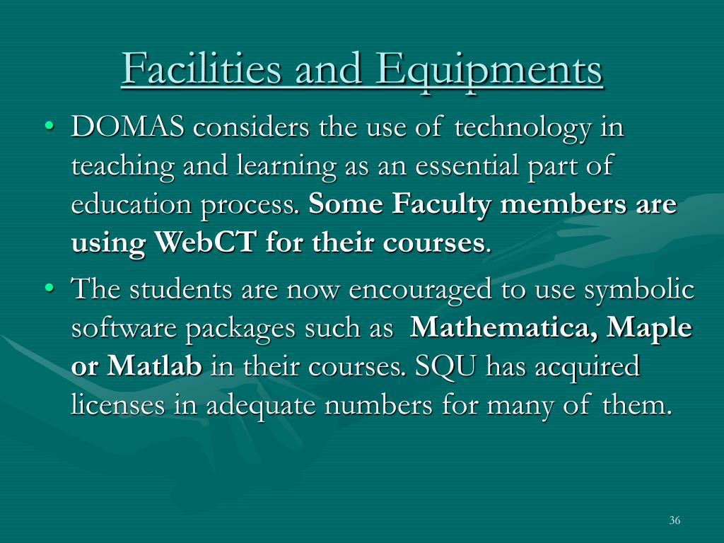 Facilities and Equipments