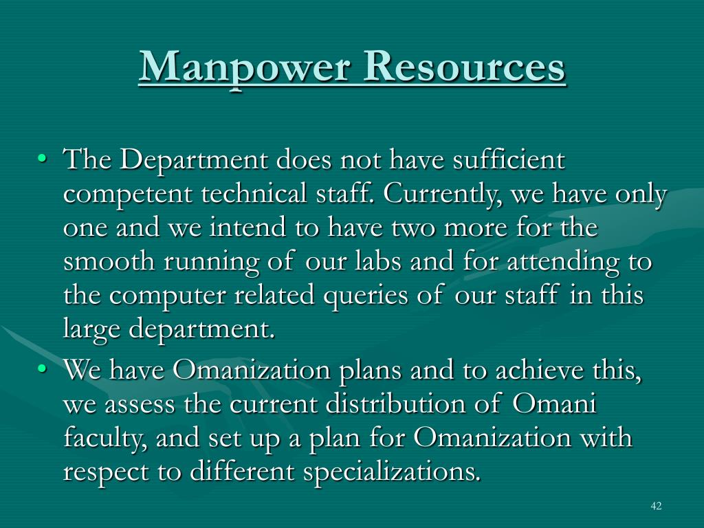 Manpower Resources