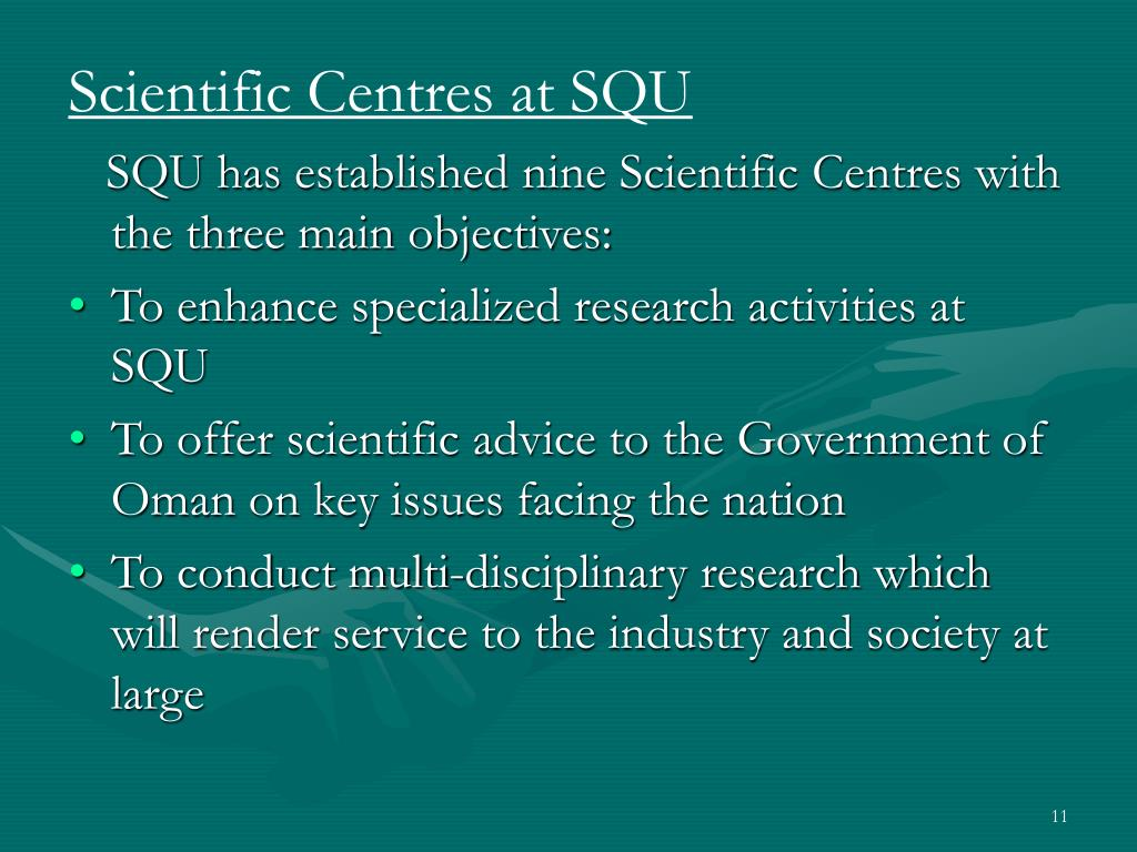 Scientific Centres at SQU