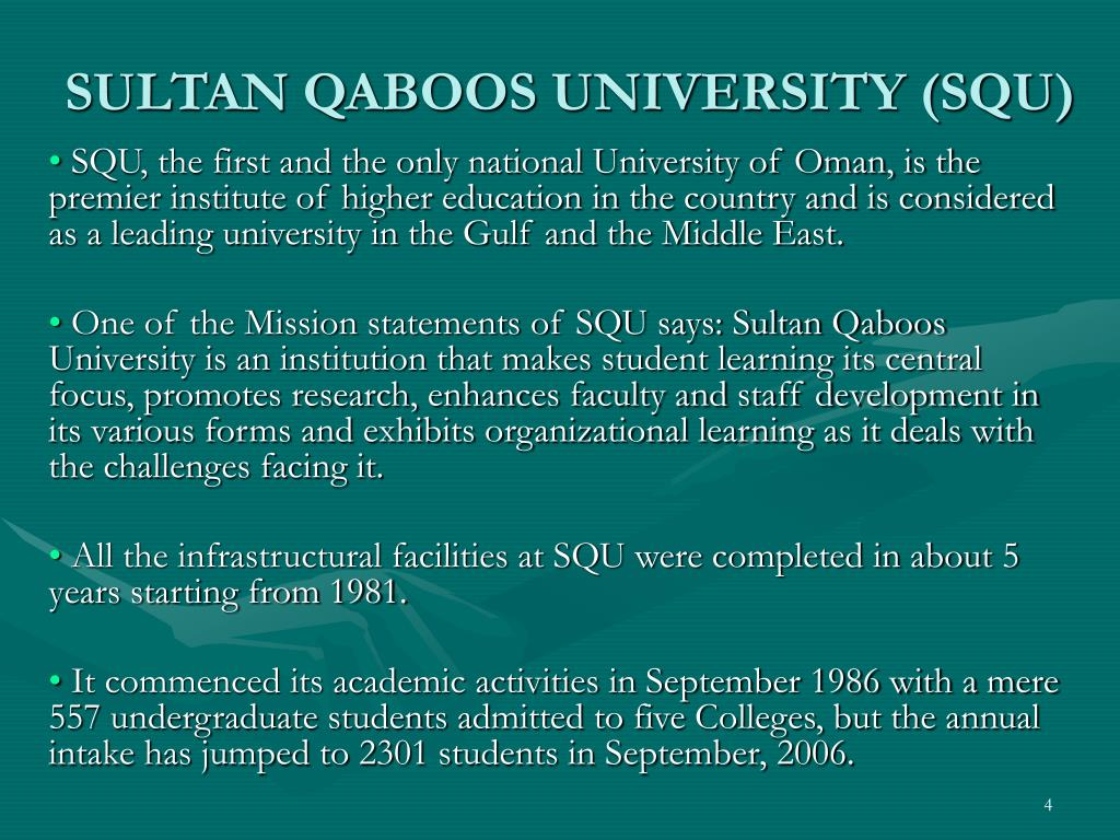 SULTAN QABOOS UNIVERSITY (SQU)