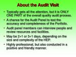 about the audit visit