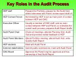 key roles in the audit process