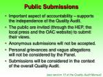 public submissions
