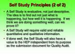 self study principles 2 of 2