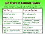 self study vs external review