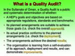 what is a quality audit11