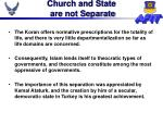 church and state are not separate