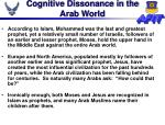 cognitive dissonance in the arab world
