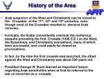 history of the area