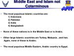 middle east and islam not coterminous
