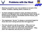 problems with the west